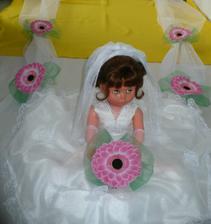 šerpa na auto nevěsty