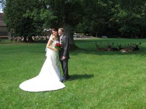 Focení nevěsty,ženicha a daňků:))