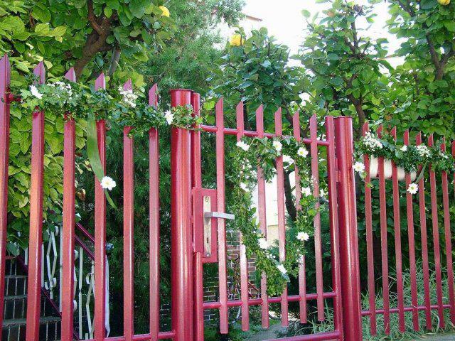 Čo sme mali - výzdoba na bráne u nevesty