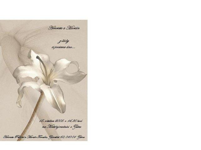 Peha - svadobne oznamenie - vlastnorucne vyrobene