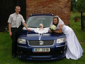 tímto autí jsme se vezli na svatbu