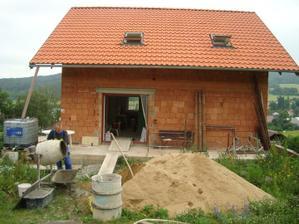 při betonování horního patra
