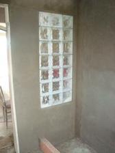 moje luxfery v horní koupelně (věděla jsem, že luxfery budu mít v koupelně ještě před tím, než jsme nechali projektovat barák)