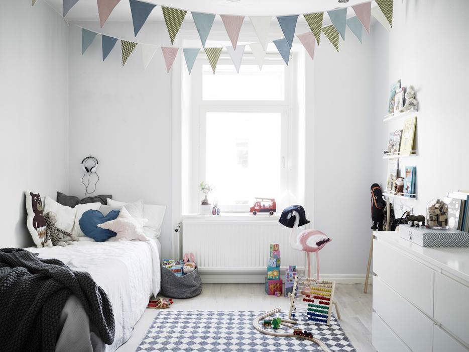 80% bielej v izbe pre deti - Tie trojuholníky su peckové , aj kombinácia farieb