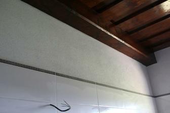 Detail na listelu a strop