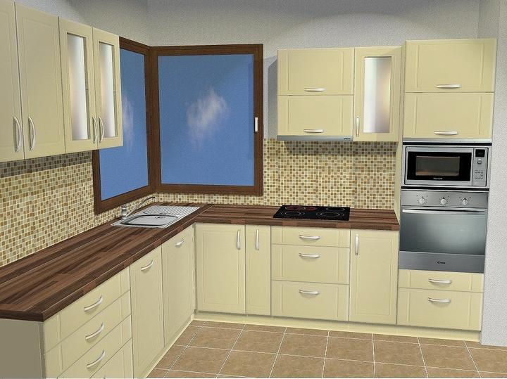 Tramovy strop, bungalow - Vizual kuchyne. Spotrebice nad sebou budu jednotneho dizajnu.Mozem len pochvalit firmu Lukras z BB (teda aspon zatial za ochotu a odbornost - aka bude linka este uvidime a napiseme :)