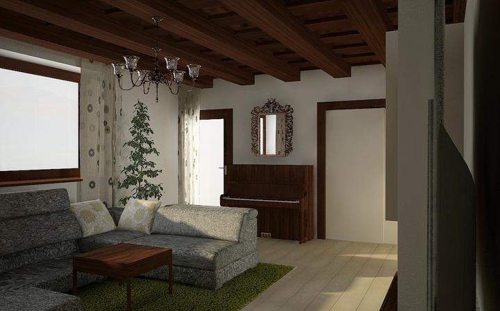 """Tramovy strop, bungalow - Dizajnerovi sa to urobi """"lahko"""" len ci to tak vsetko aj ozaj fyzicky vymajstrujeme :)"""