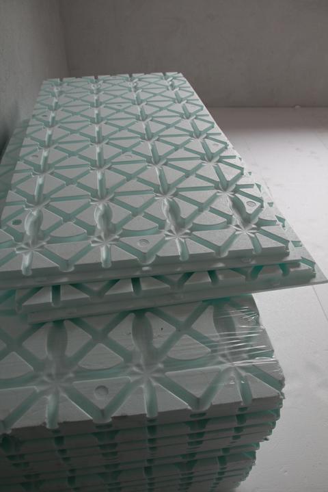 Tramovy strop, bungalow - Systemova polystyrenova doska