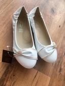 Biele balerinky- nepouzite, 39
