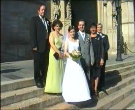 Burkoňovi, novomanželia Chovancovi a Chovancovi