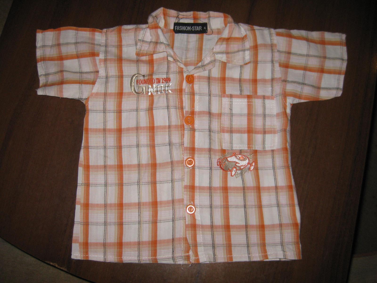 Košile vel.86 -  na oranžovou svatbu - Obrázek č. 1