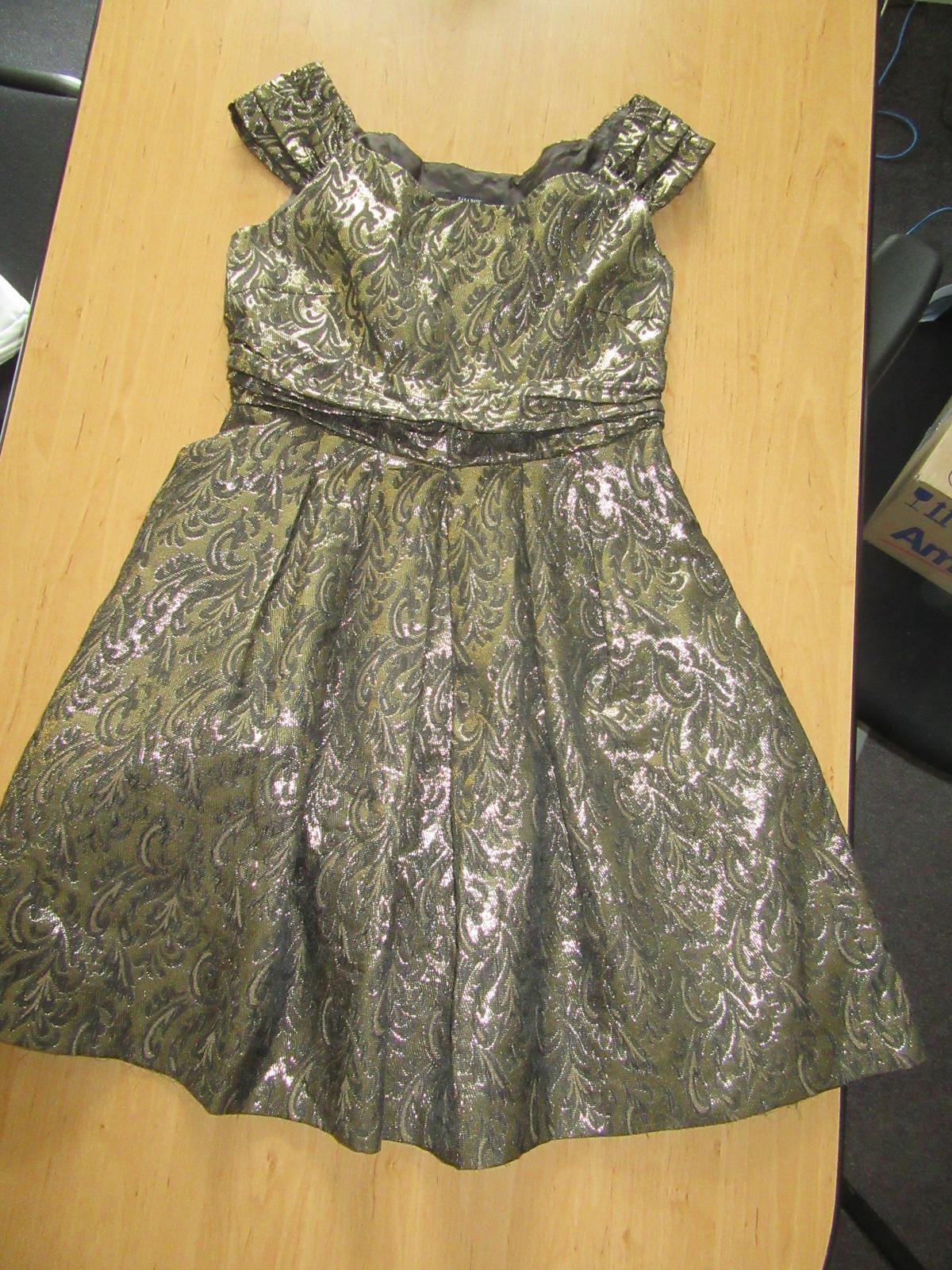 šaty zlato-černé vel.L , zn. Zara&Zara - Obrázek č. 1