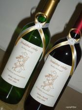 ... mašličky na svadobnom vínku naživo ... :)