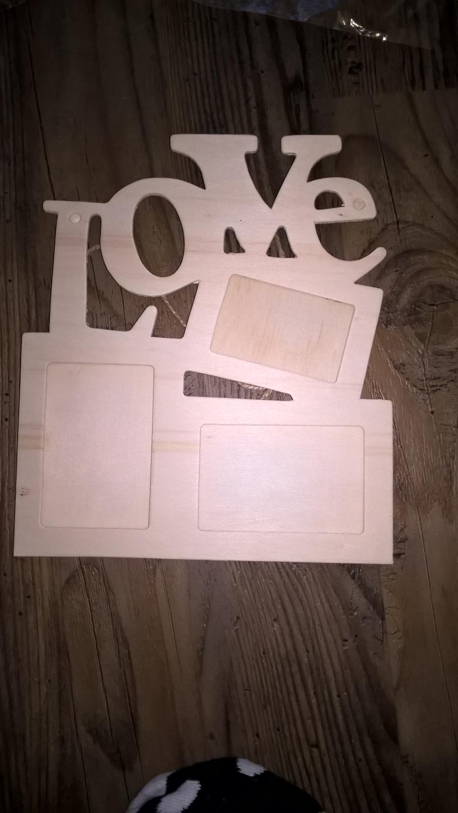 Dreveny fotoramik love na 3 fotky - Obrázok č. 2