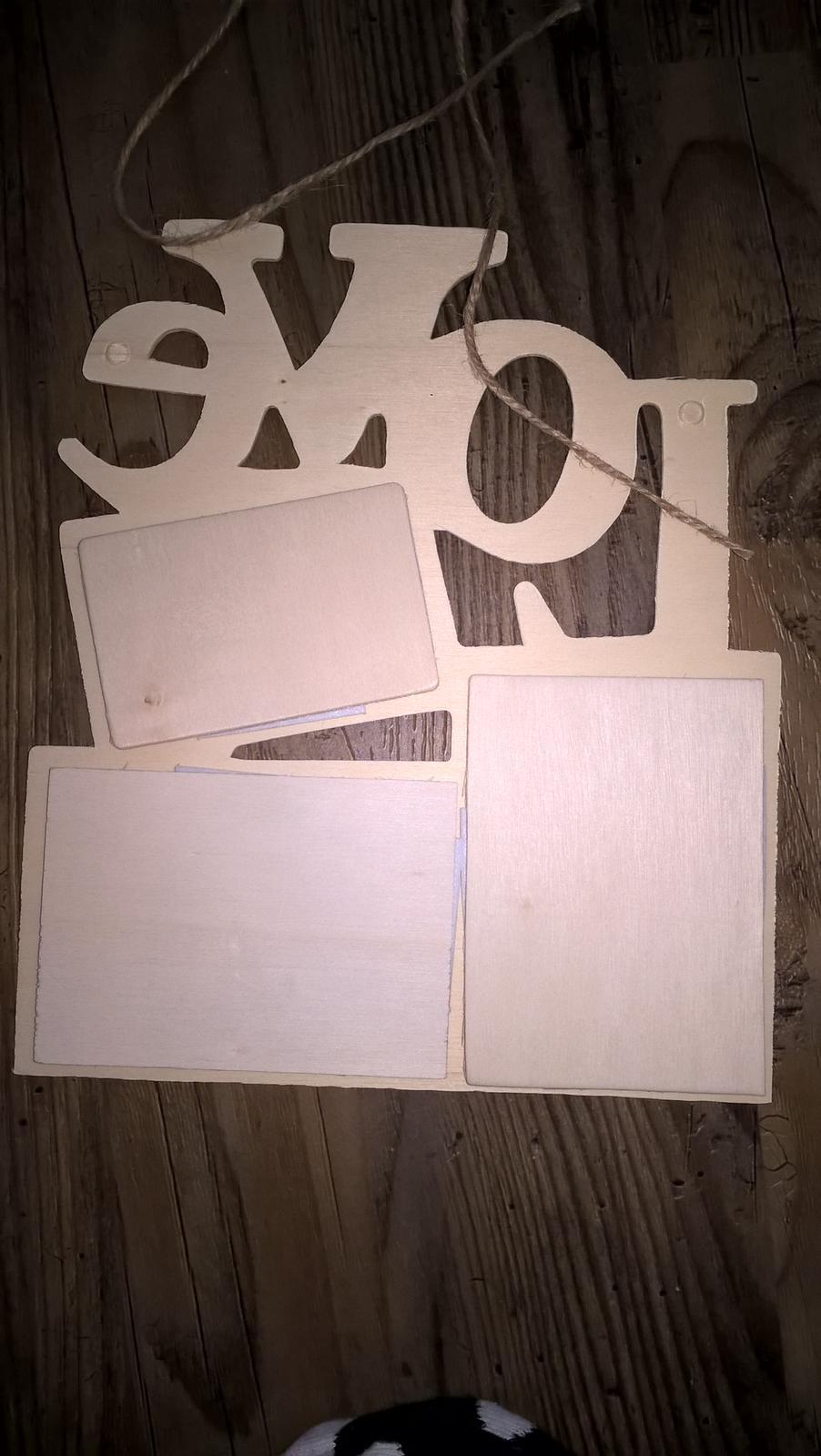 Dreveny fotoramik love na 3 fotky - Obrázok č. 3
