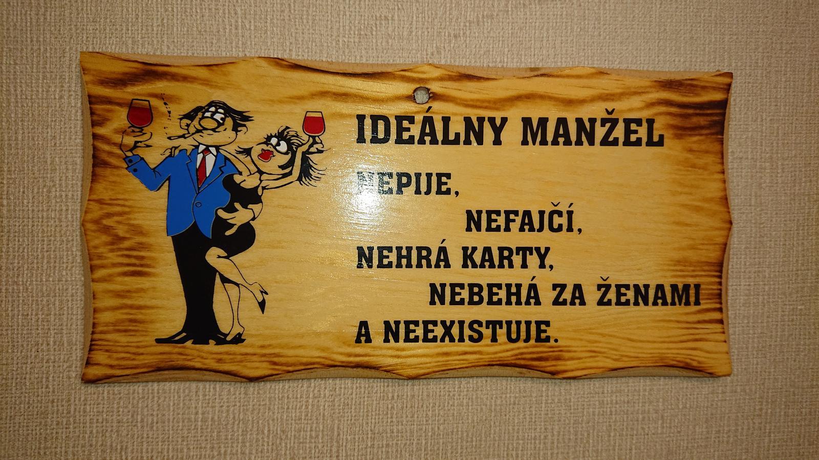 vtipna tabulka dokonaly manzel - Obrázok č. 1