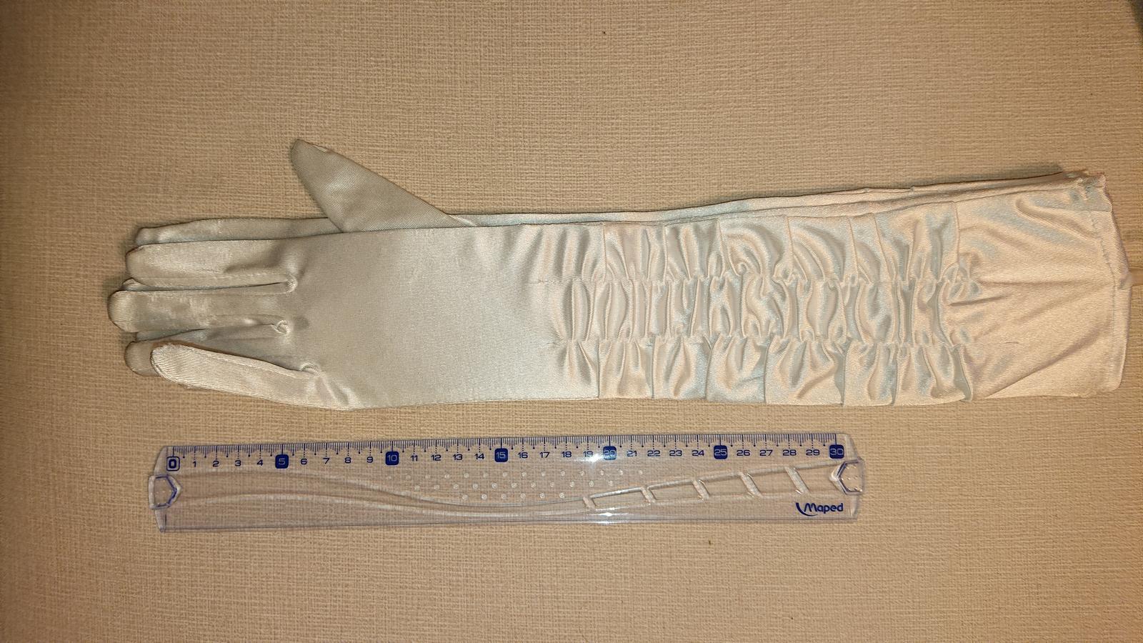nove dlhe rukavice 42cm - Obrázok č. 1