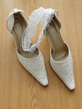 Svatební botičky a podvazek