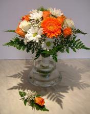 Svatební kytička pro družičky a ženicha