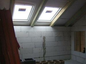 strešné okná v detskej izbe