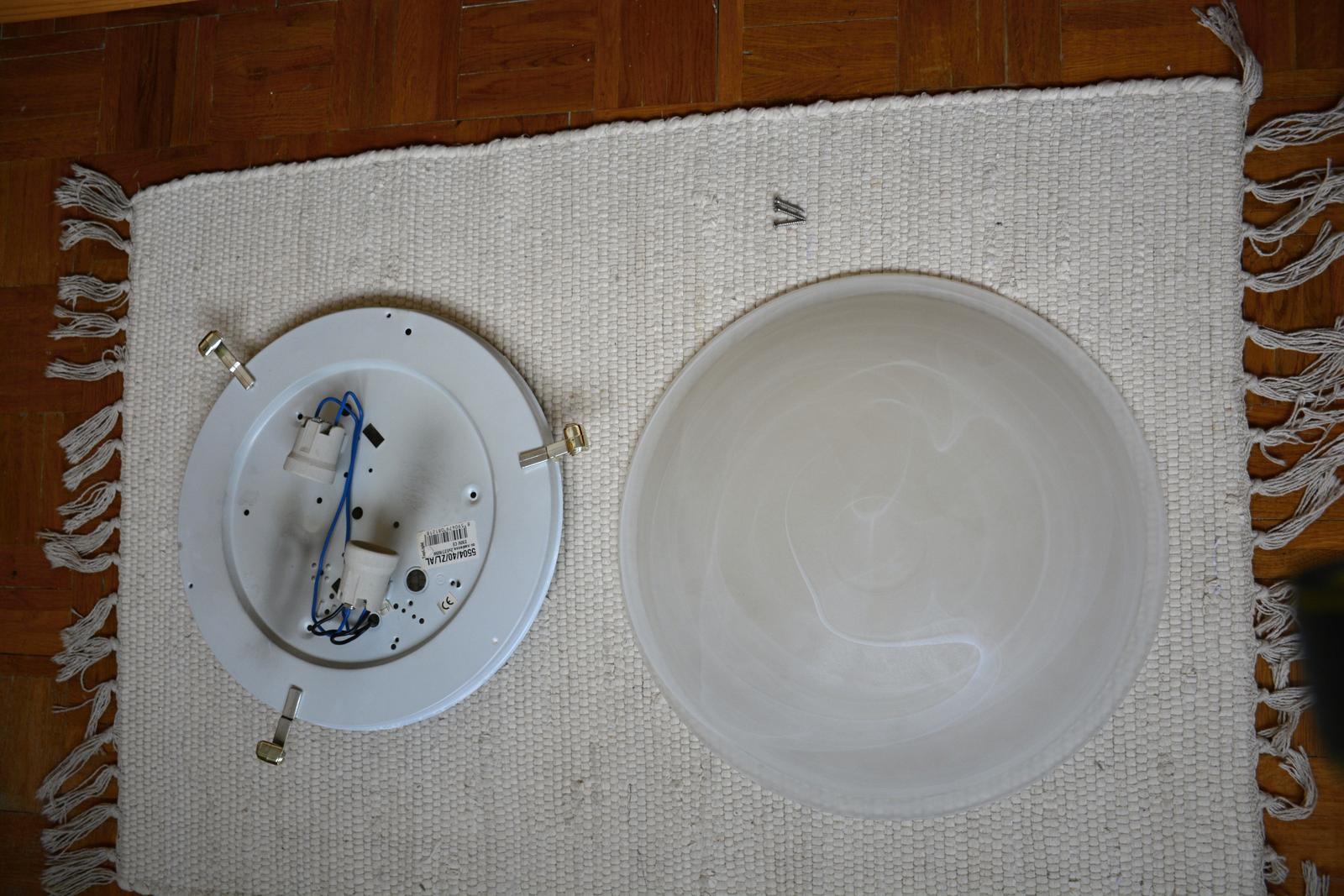 Svítidlo na strop mléčné sklo - Obrázek č. 3