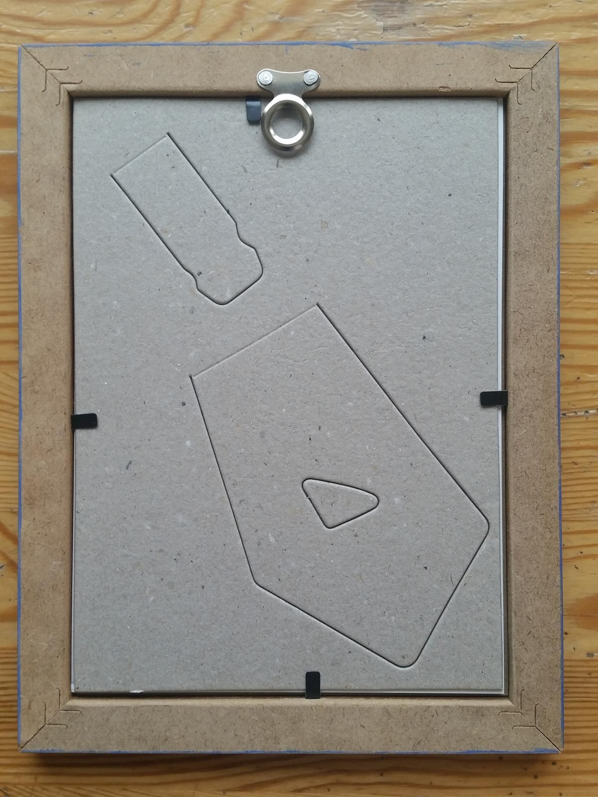 Modré rámečky IKEA s obrázky s motivem květin - Obrázek č. 2