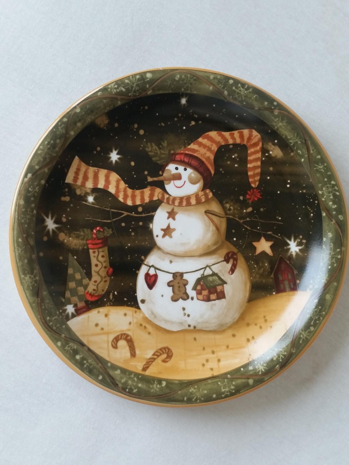 vnároční talíř sněhulák - Obrázek č. 1