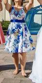 Kvetované krátke spoločenské šaty, 40