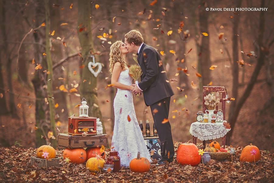 Najkrajšie svadobné fotografie 💑 - Milovaná jeseň :-)