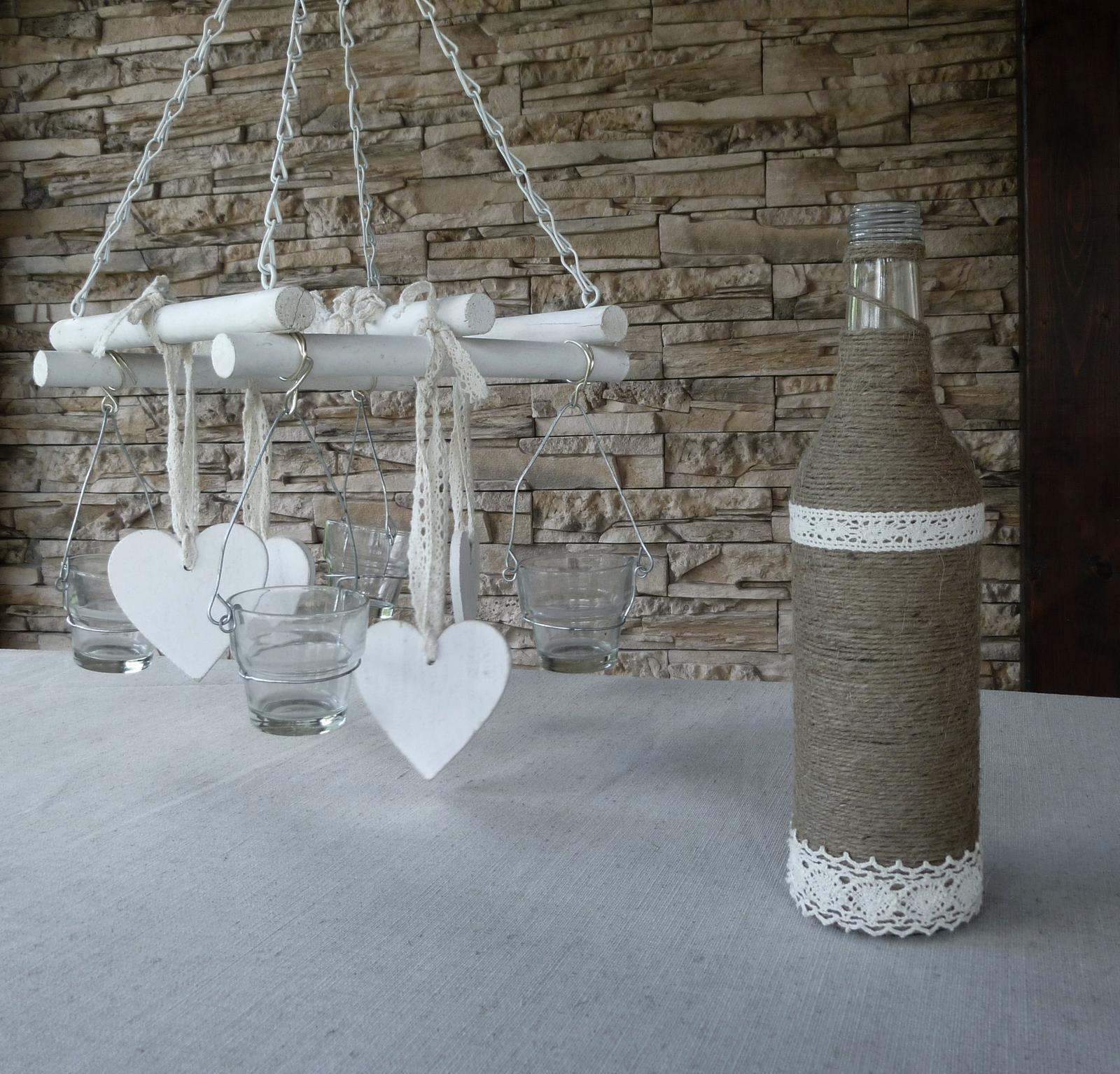 Naša romantic-rustic svadba ♥ - Po večeroch vyrábame fľašky... :)
