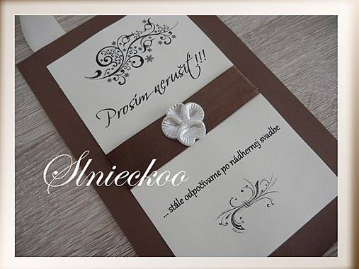Naša romantic-rustic svadba ♥ - Na dvere:)