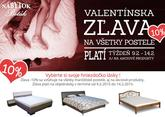 Valentínska ZĽAVA 10% na všetky manželské postele http://nabytokbetak.sk/produkty/postele