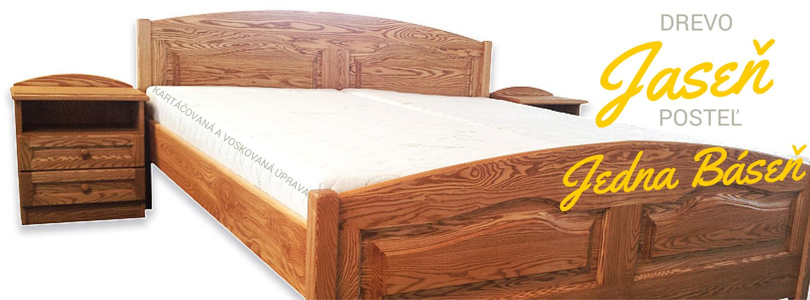 nabytok_betak - masívna jaseňová posteľ