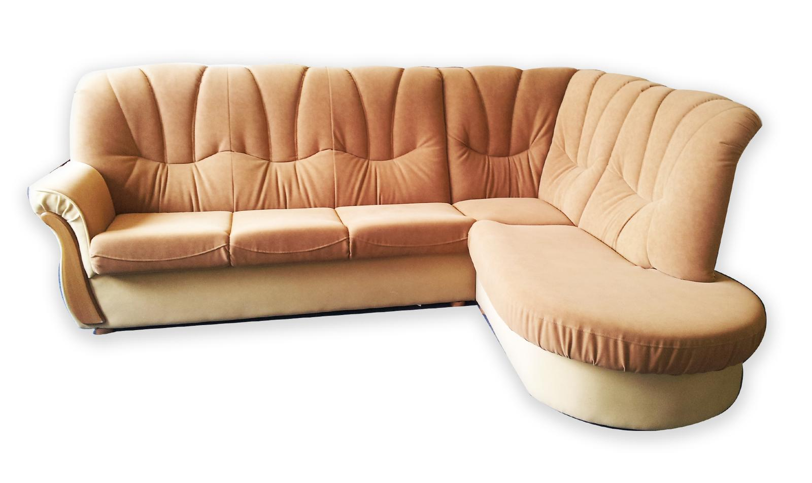 Rohová sedačka s taburetkou - Obrázok č. 1