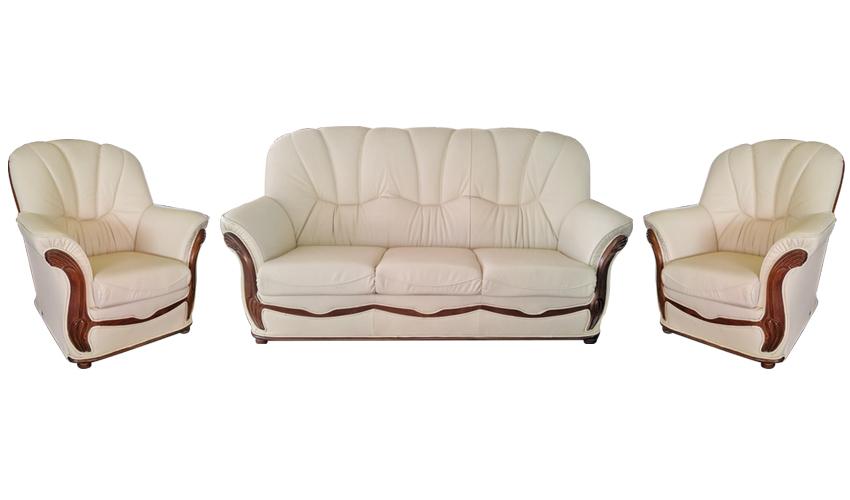 Rustikálna kožená sedačka JÚLIA 3+1+1 - Obrázok č. 1