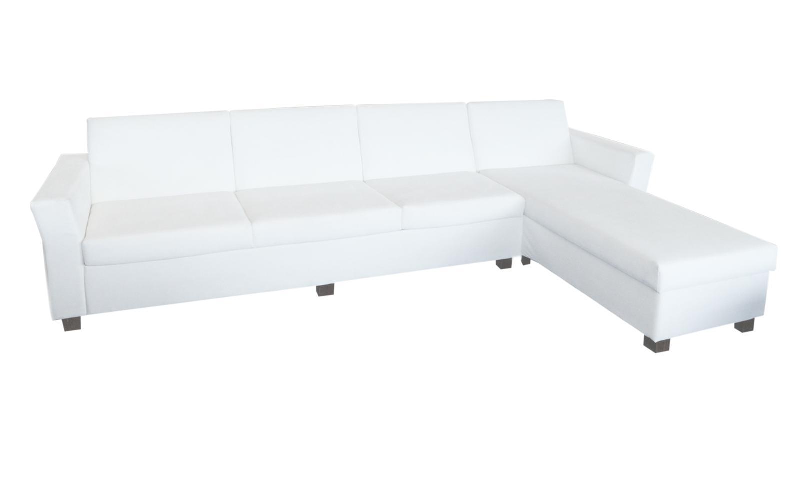 Elegantná biela rohová sedacia súprava - Obrázok č. 1