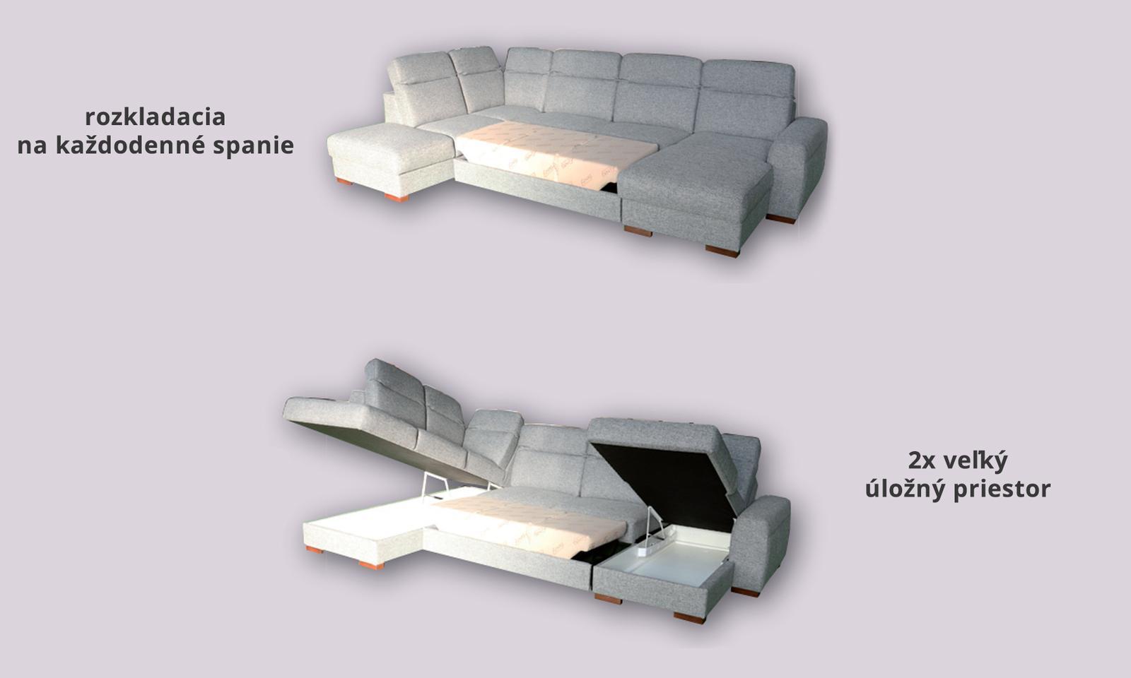 Účková rozkladacia sedačka - Obrázok č. 3