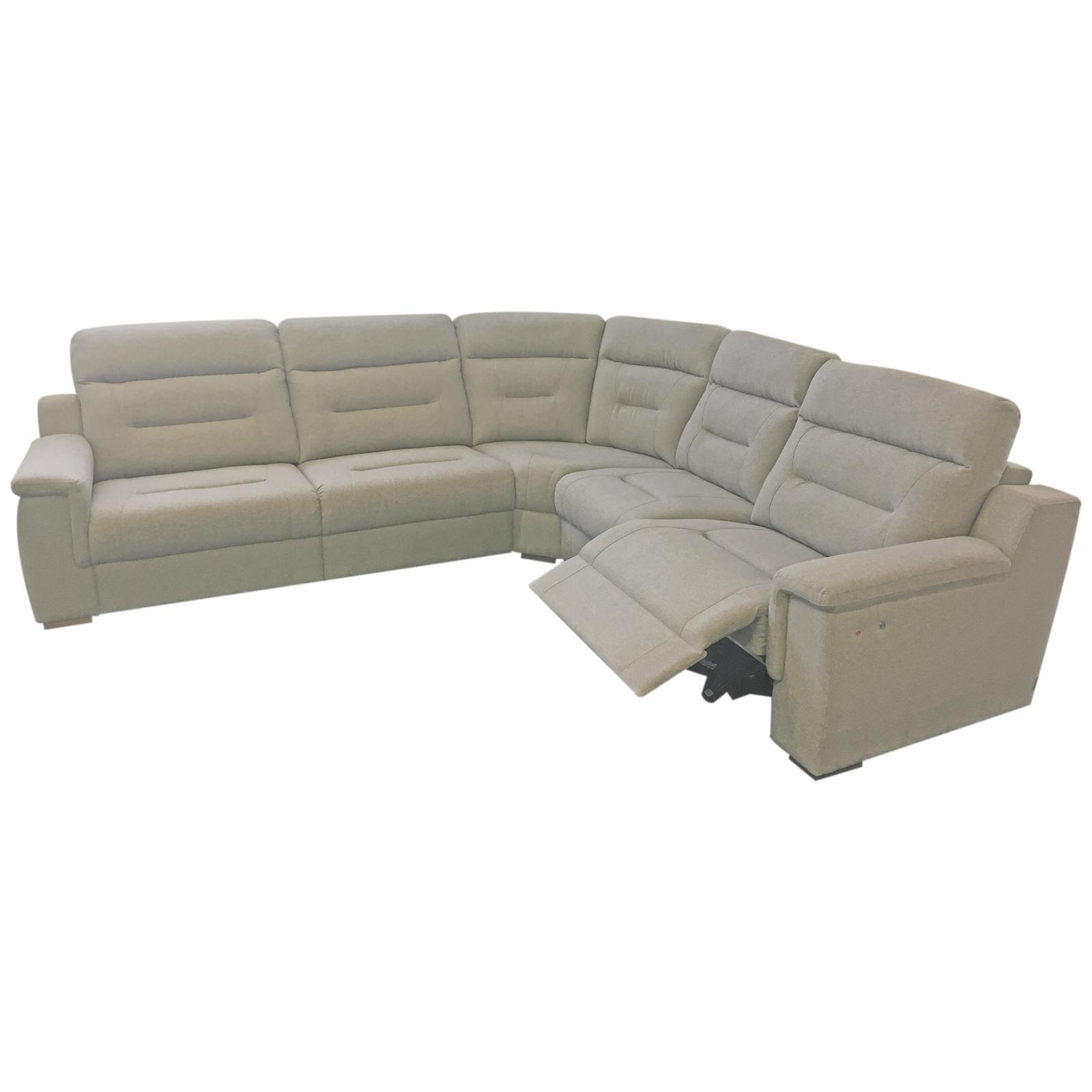 Rohová sedačka s elektrickým polohovaním - Obrázok č. 1