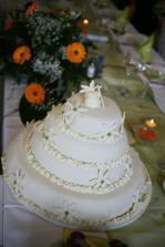 Tak tento dortík poslouží jako předloha paní cukrářce :-)