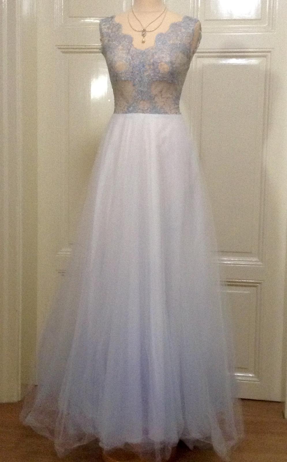 Šedomodré šaty - Obrázek č. 3