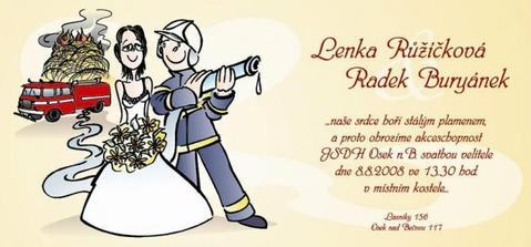 naše originální svatební oznámení...