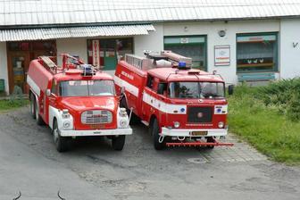 hasičí nás doprovodili až do Týna n.B.