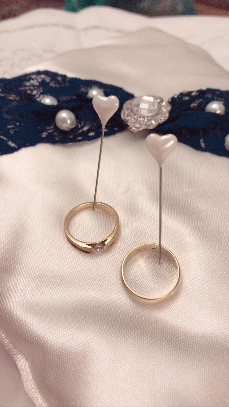 Vankúš na svadobné obrúčky - modrý - Obrázok č. 4