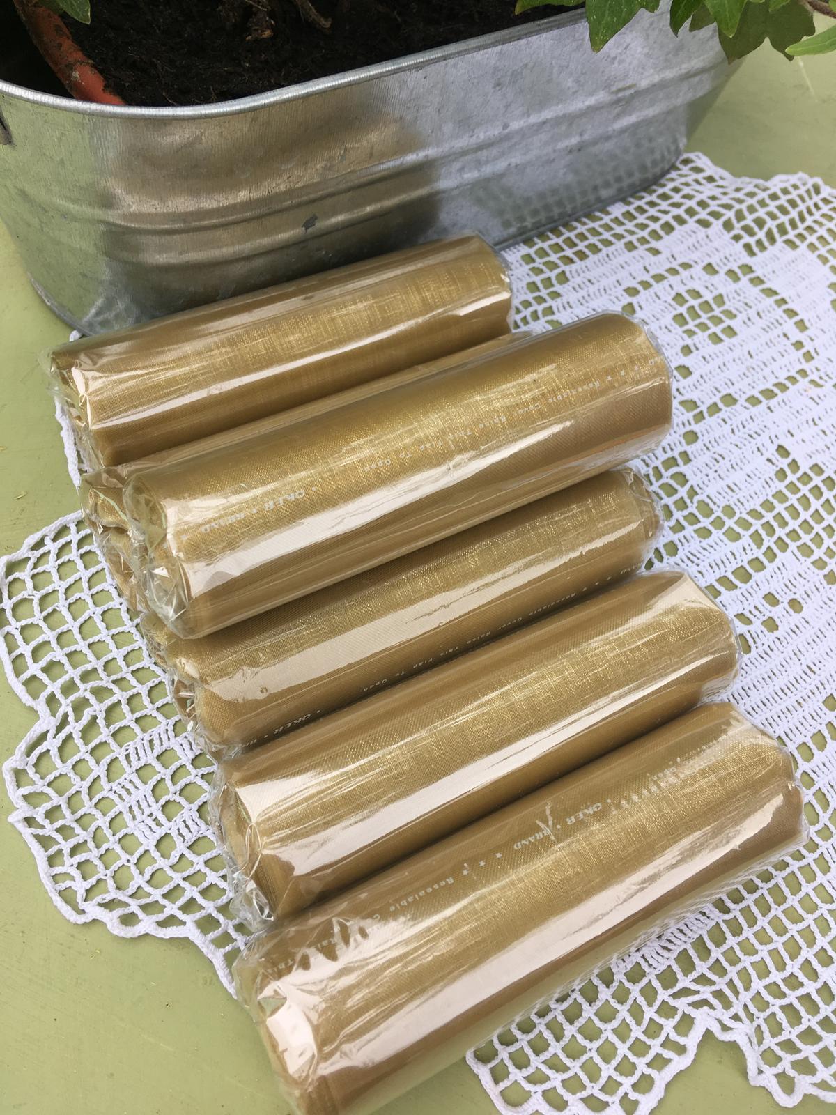 Zlatá rolka- organza - Obrázok č. 1