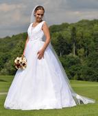 svatební princeznovské šaty 38-42, 38