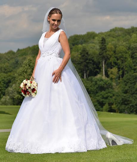 svatební princeznovské šaty 38-42 - Obrázek č. 1