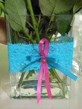 Modro-zeleno-tyrkysový podvazeček