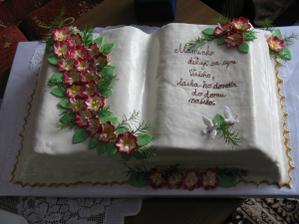 děkovná dortička za syna