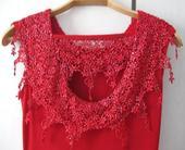 Společenské šaty plesové, jahodově červené, 42