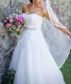 svadobné šaty 36-38, super cena  REZERVOVANE, 36
